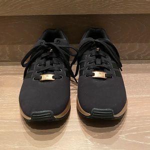 Adidas, black/rose gold sneakers